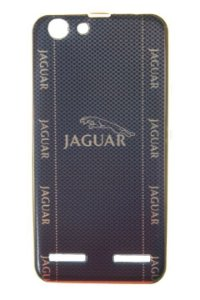 Capas para Celular Lenovo Vibe K5 Silicone Luxo Estampa Jaguar com Borda Pintura Dourada