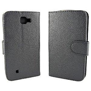 Capas Carteira para Celular LG k4 Cor Preta