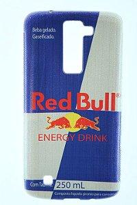 Capas para Celular LG K7 TPU Silicone Estampa Red Bull