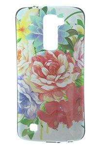 Capas para Celular LG K10 Tpu Silicone Estampa Rosas