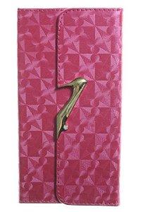 Capas Carteira para Celular Motorola Moto G 4 - Moto G 4 Plus Tela de 5.5 em Couro Sintético Feixe Sapatinho Cor Pink