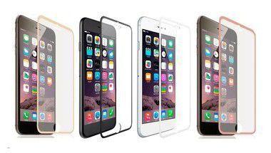 Película de Vidro Temperado com Bordas Metálicas Cores Sortidas para Linha APPLE iPhone