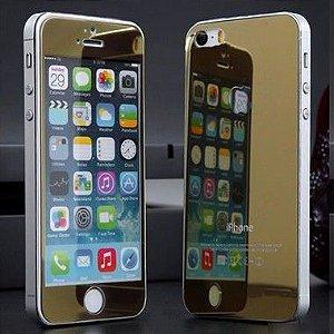 Película de Vidro Espelhada para Linha Apple iPhone Frente e Verso Cores Sortidas