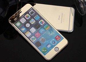 Película Protetora de Tela Feita em Vidro Temperado Espelhada para Linha Apple iPhone Frente e Verso Cores Sortidas