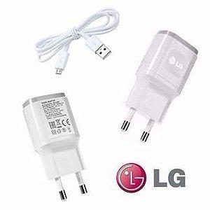 Carregador para Celular 1ª Linha LG Qualidade Original Cor Branca ou Preto