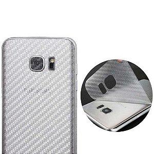 Adesivo Protetor Traseiro Skin Fibra de Carbono Transparente para Linha SAMSUNG