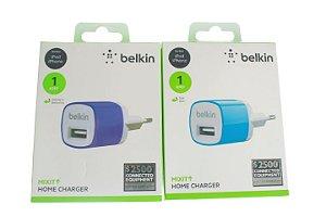 Carregador Fonte Parede Belkin Um Usb para Iphone-Ipad Cores Sortidas