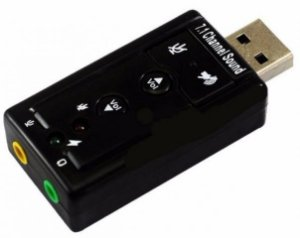 Aptador Placa de Som Usb para Fone de Ouvido P2