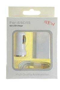 Carregador Kit 3 em 1 para IPhone 5-5c-5s