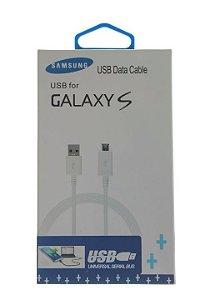 Cabo de Dados Samsung USB Entrada V8 1ª Linha Qualidade Original na Cor Branca no Blister