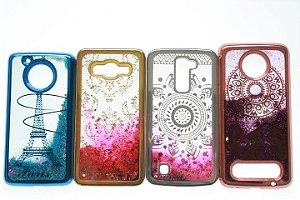 Capas Glitter Líquido Borda Pintura Metálica Cores Sortidas para Celular - Clique e Escolha os Modelos