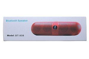 Mini Caixa de Som Bluetooth Speaker Modelo BT-808 Cores Sortidas