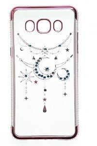 Capas para Celular Samsung Galaxy J5 2016 - J5 Metal Silicone Transparente Strass Luxo Sortidas