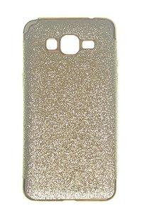 Capas para Celular Samsung Galaxy Gran Prime Silicone Glitter Dourada