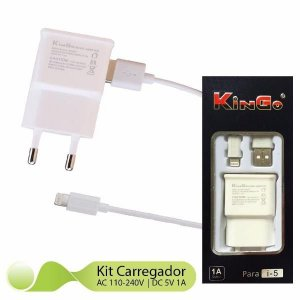 Carregador Marca Kingo iPhone 5-5s-5c-6-6s-6plus
