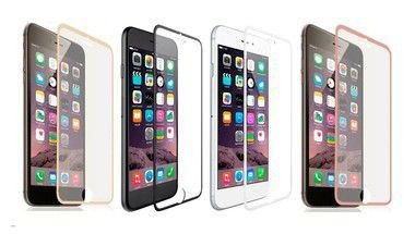 Película de Vidro Temperado iPhone 7 Borda Metálica Cores Sortidas