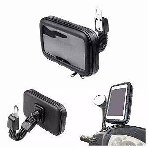 Suporte para Celular-GPS Capa À Prova D'água Até 5.5 Polegadas Encaixe Moto