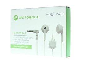 Fone de Ouvido 1ª Linha Motorola Designe Requintado Branco