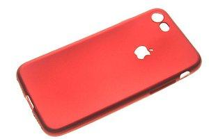 Capinha de Celular iPhone 7 Silicone Vermelha