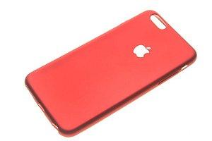 Capinha de Celular iPhone 6 Plus Silicone Vermelha