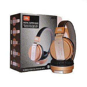 Fone de Ouvido Headfone Bluetooth JBL Metal Super Bass