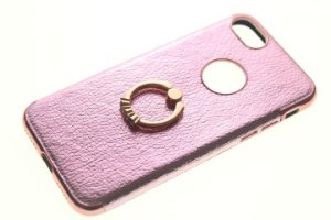 Capinha de Celular iPhone 7 Rosê Anel Pop Socket
