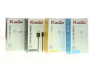 Cabo de Dados Kingo USB-iPhone 5-5s-6s-7-8-IPad Mini Dois Metros