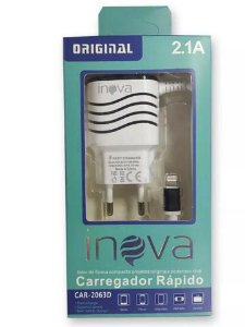 Carregador de Celular IPhone Marca INOVA 2.1A