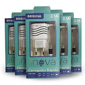 Carregador INOVA 2.1A para Celular V8 - Micro USB Referência Car-135A