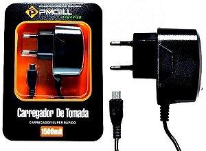 Carregador PMCELL 1.5A para Celular V8-Micro USB