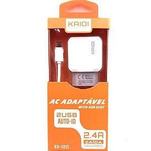Carregador de Celular V8 Micro USB KAIDI KD-301S