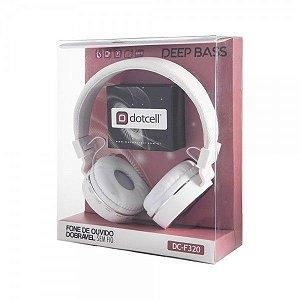 Fone de Ouvido Bluetooth Dobrável Sem Fio Dotcell DC-F320