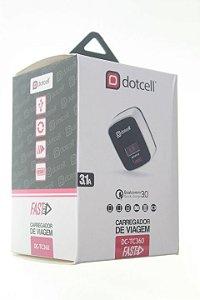 Carregador Viagem Dotcell DC-TC360 3.1A - (FAST) - 1 USB + LED - Preto