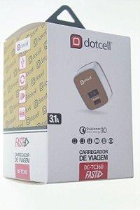 Carregador Viagem Dotcell DC-TC360 3.1A - (FAST) - 1 USB + LED - Dourado
