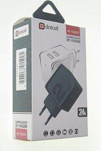 Carregador Viagem Dotcell DC-TC5015  2.4A - 2 USB - Preto