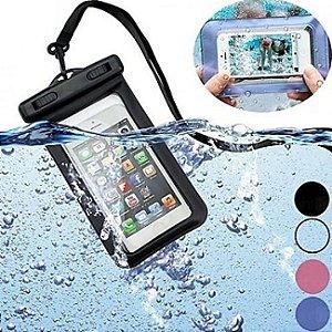 Capinha de Celular Bolsa A Prova D' Água Cores Masculinas Sortidas para Tela de até 5.5