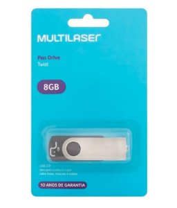 Pen Drive Multilaser Usb 2.0 Modelo Twist 8GB