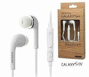 Fone de Ouvido Para Celular Samsung Cable Flat Entrada P2 Som Stereo Com Microfone Cor Branco ou Preto na Caixinha Linha Headset Samsung