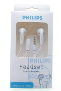 Fone de Ouvido Marca Philips Entrada P2 cor Branca ou Preta na Caixinha