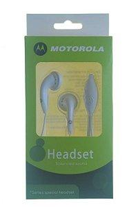 Fone de Ouvido para Celular Motorola Entrada P2 cor Branca ou Preta na Caixinha