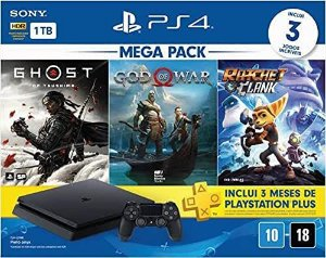 Console Novo PS4 Slim 1TB Mega Pack 18