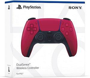 Controle PS5 Novo DualSense Cosmic Red