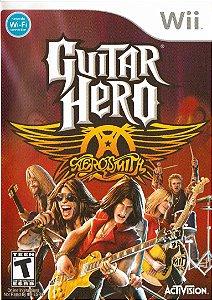 Jogo Wii Usado Guitar Hero Aerosmith