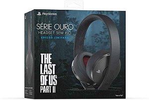 Headset PS4 Usado Série Ouro Sem fio (Edição The Last of Us Part II)