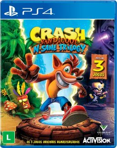 Jogo Crash Bandicoot N'Sane Trilogy PS4 Novo