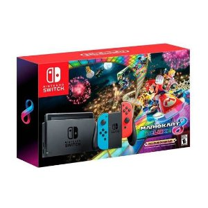 Console New Nintendo Switch 32GB Neon Bundle Mario Kart 8 Novo