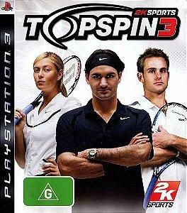 Jogo Top Spin 3 PS3 Usado
