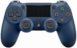 Periférico Dualshock 4 Azul PS4 Novo