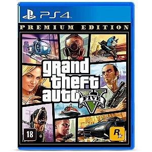 Jogo PS4 Novo Grand Theft Auto V Premium Online Edition