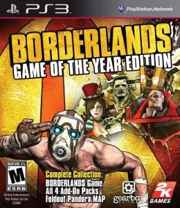 Jogo PS3 Usado Borderlands Game of the Year Edition